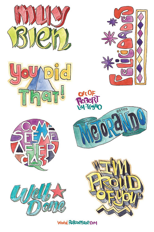 Sticker sheet for Teachers