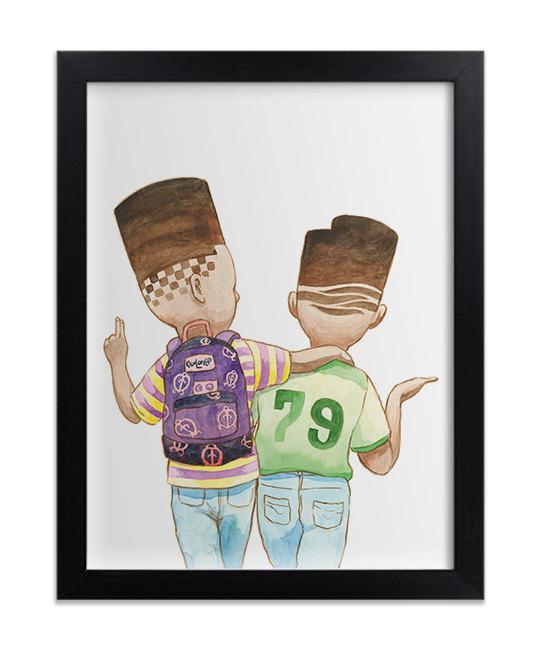Shakur twins print