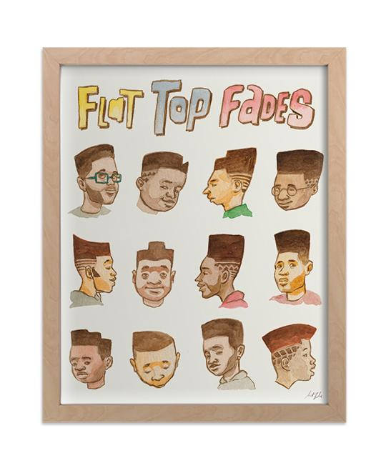 Flat Tops print