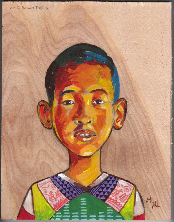 Children's Portraits-Hand painted