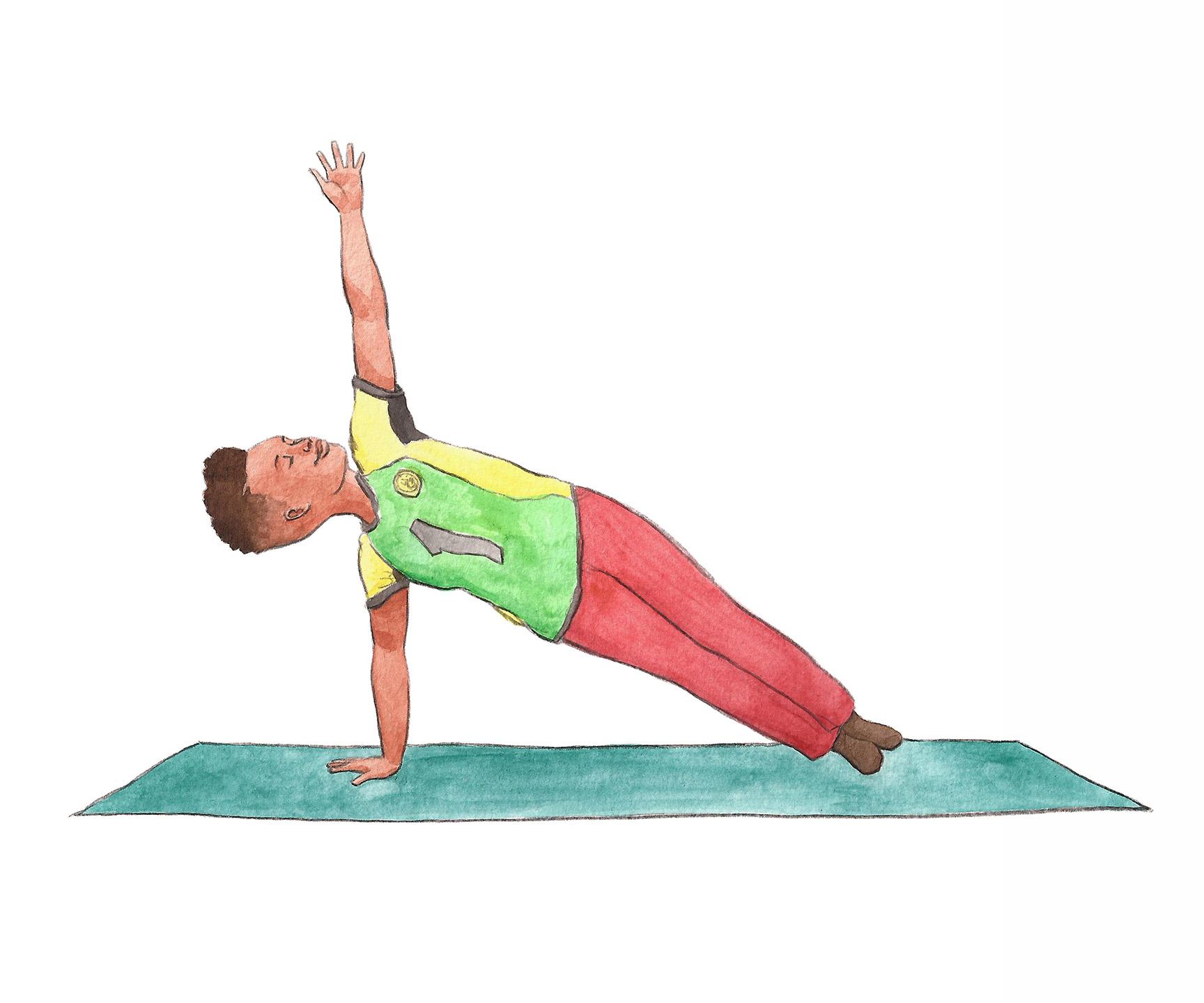 Side Plank | Yoga Pose | Kid Yoga
