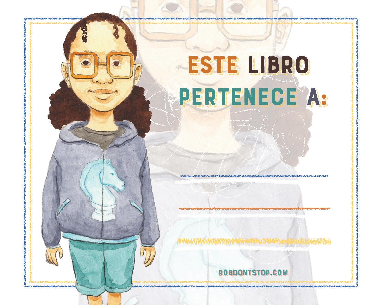 Spanish Bookplate | Brown Girl | Student